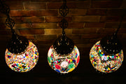 Hanging Mosaic Globe in MultiColors, Medium
