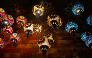 Seven Globe Mosaic Chandelier in Bright & Happy Colors