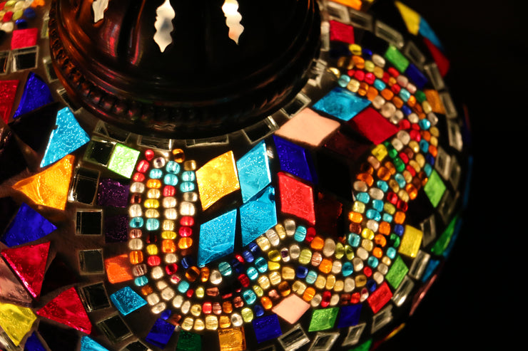 Mosaic Table Lamp in Geometric MultiColors
