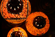 Mosaic Table Lamp in Orange