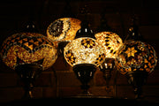 Mosaic Table Lamp in Amber