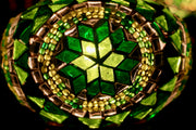 Mosaic Table Lamp in Shades of Green