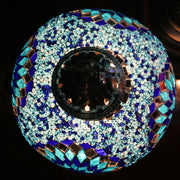 Mosaic Table Lamp in Two Blues