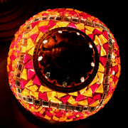 Mosaic Table Lamp in Orange & Red