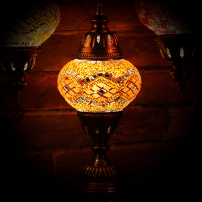 Mosaic Table Lamp in Bright Orange