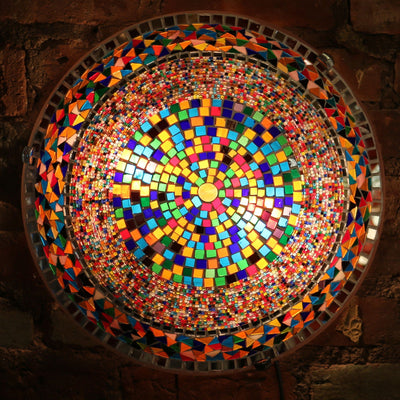 Mosaic Flush Mount for Ceiling or Wall Lamp in Many Colors
