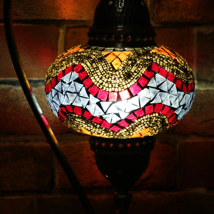 Mosaic Table Lamp in Colorful Hues, 5 Styles Available