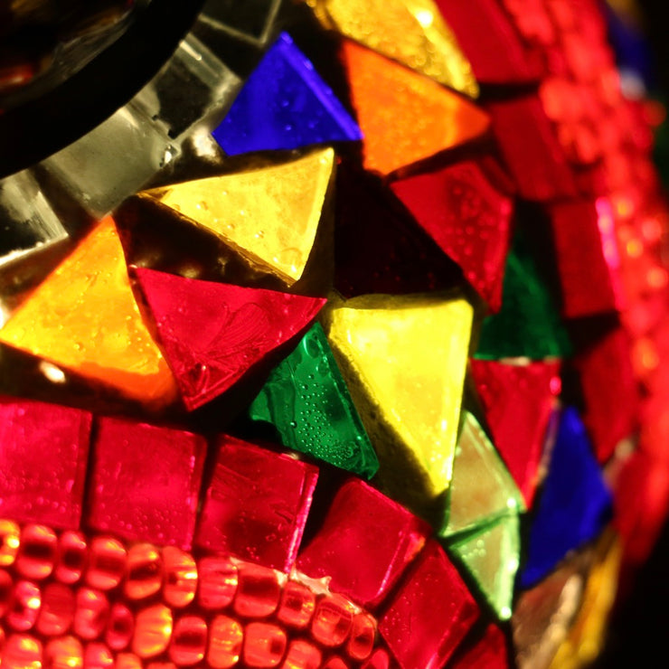 Mosaic Table Lamp in Red and MultiColors, 5 Styles Available
