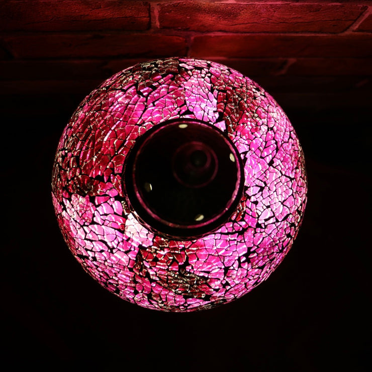 Crackle Glass Table Lamp in Violet, 5 Styles Available