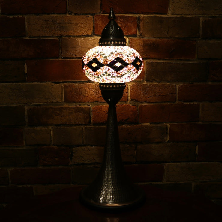 Mosaic Table Lamp in Purple, 5 Styles Available