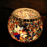 Mosaic Candleholder in MultiColors