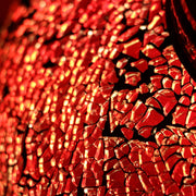 Crackle Glass Table Lamp in Red, 3 Styles Available, Large