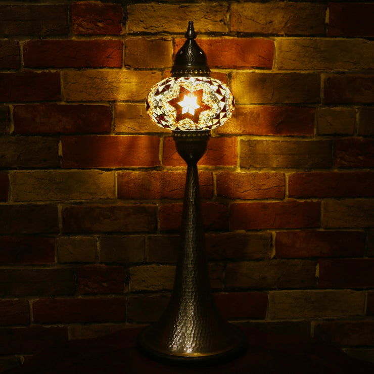 Mosaic Table Lamp in Amber, 5 Styles Available