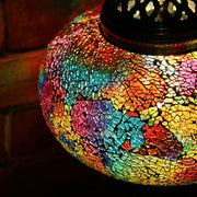 Crackle Glass Table Lamp in Many Colors, 3 Styles Available, Large