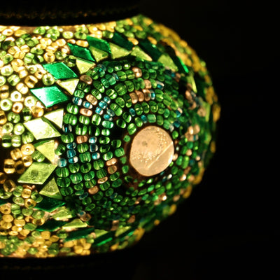 Mosaic Table Lamp in Green