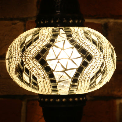Mosaic Table Lamp in White, 5 Styles Available