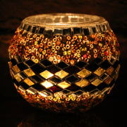 Mosaic Candleholder in Amber