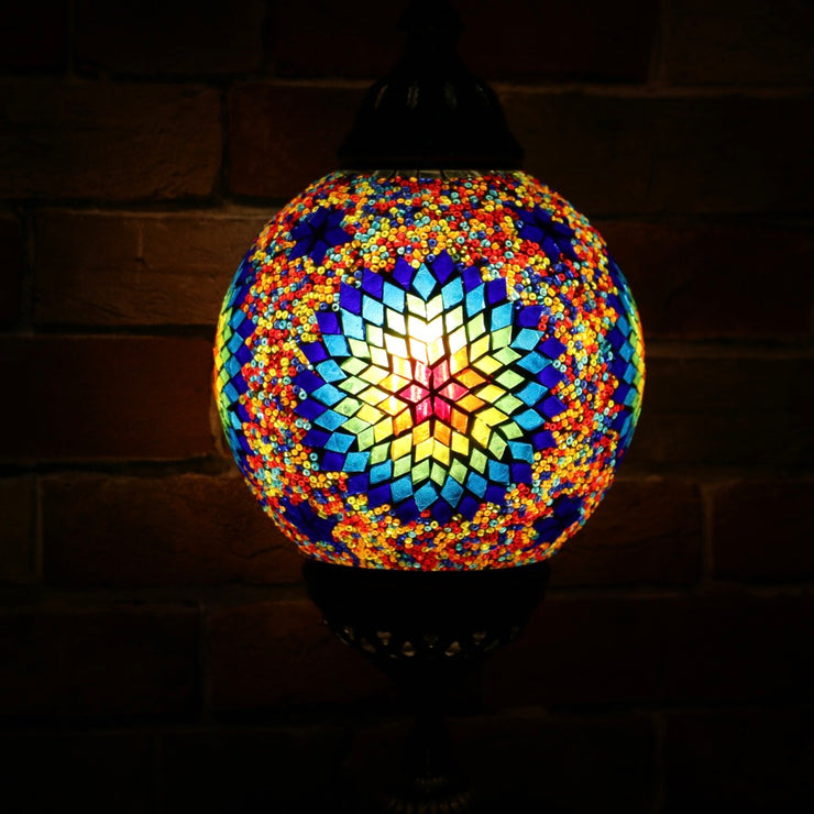 Mosaic Table or Floor Lamp in Primary Colors