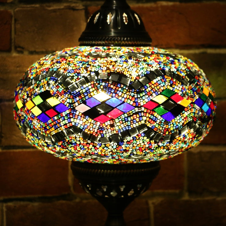 Mosaic Table or Floor Lamp in Many Colors
