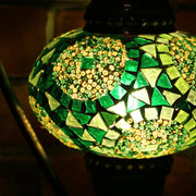 Mosaic Table Lamp in Shades of Green, 5 Styles Available