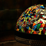 Hanging Mosaic Dome Lamp in MultiColors, Open Bottom