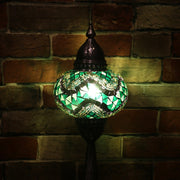 Mosaic Table Lamp in Greens, 5 Styles Available