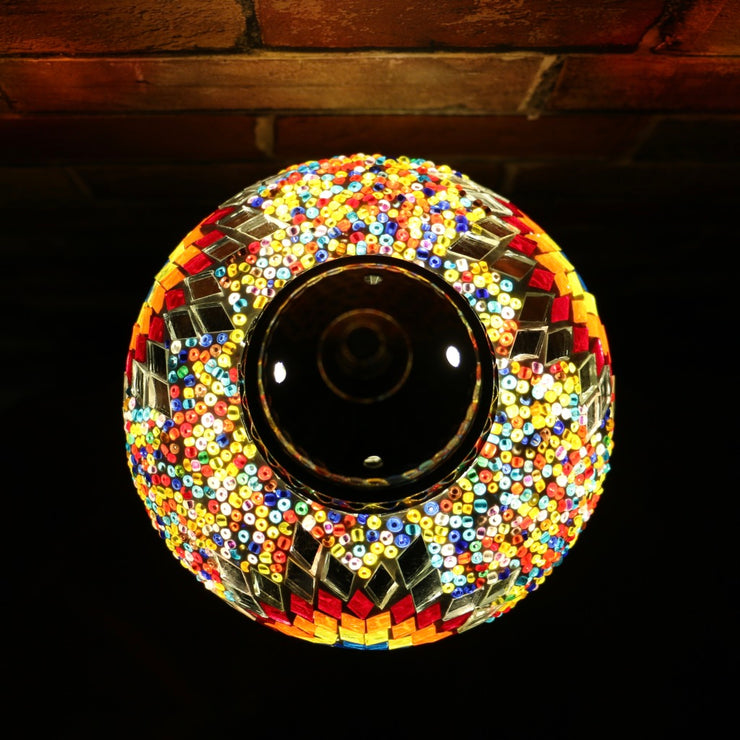Mosaic Table Lamp in Primary Colors, 5 Styles Available