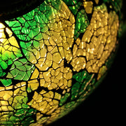 Crackle Glass Table Lamp in Green, 5 Styles Available