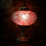 Crackle Glass Table Lamp, Rose Pink, Large