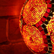 Mosaic Table or Floor Lamp in Red & Orange