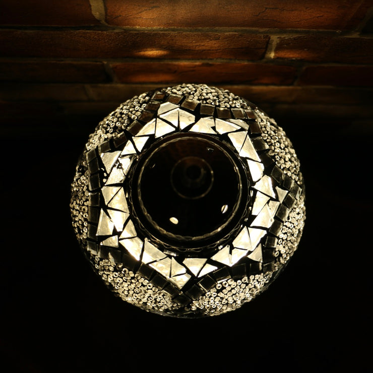 Mosaic Table Lamp in Silver-Grey, 5 Styles Available