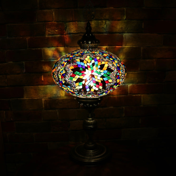 Mosaic Table or Floor Lamp in a Myriad of Colors