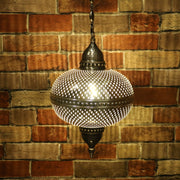 Pierced Metal Hanging Lamp