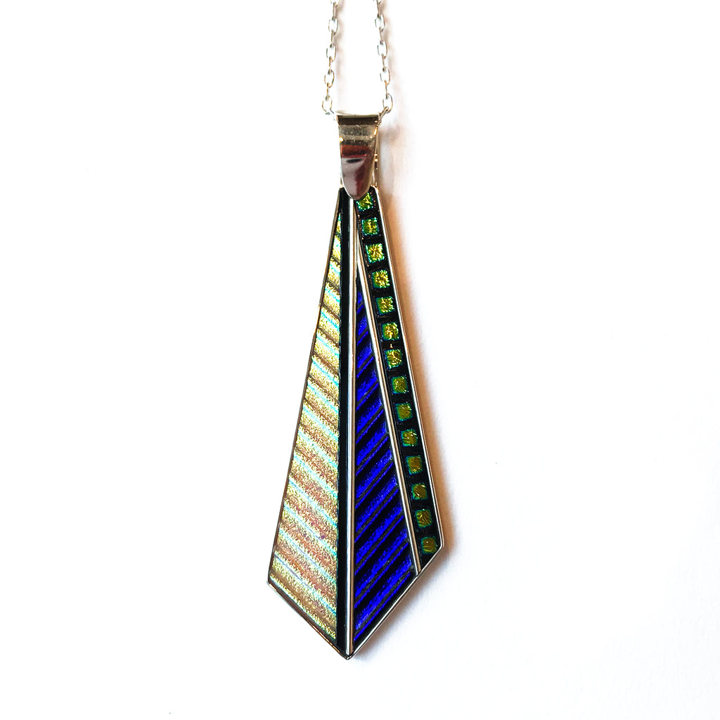 Sidebar Dichroic Pendant Necklace