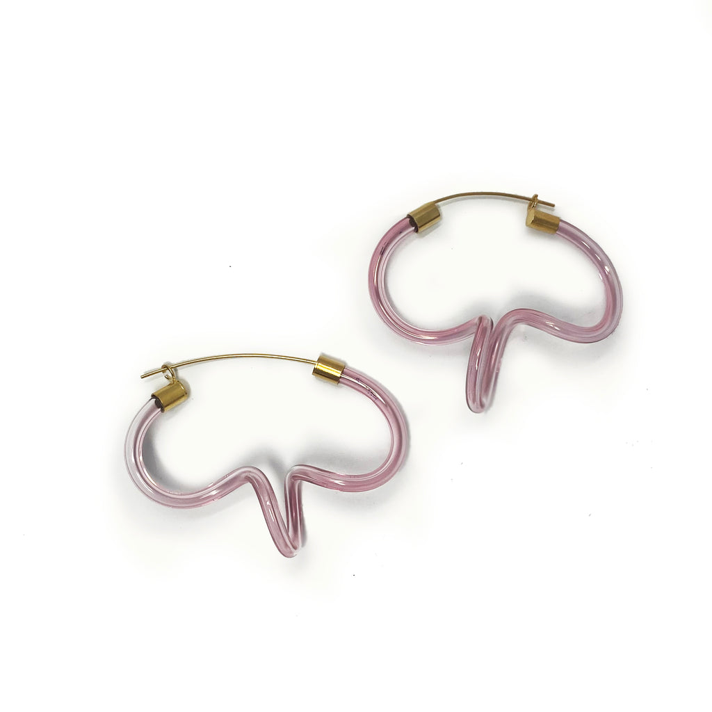Pop Ringlet Earrings Pink