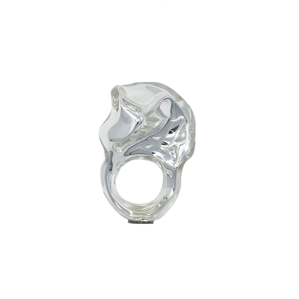 Small Wrinkle Reflection Ring