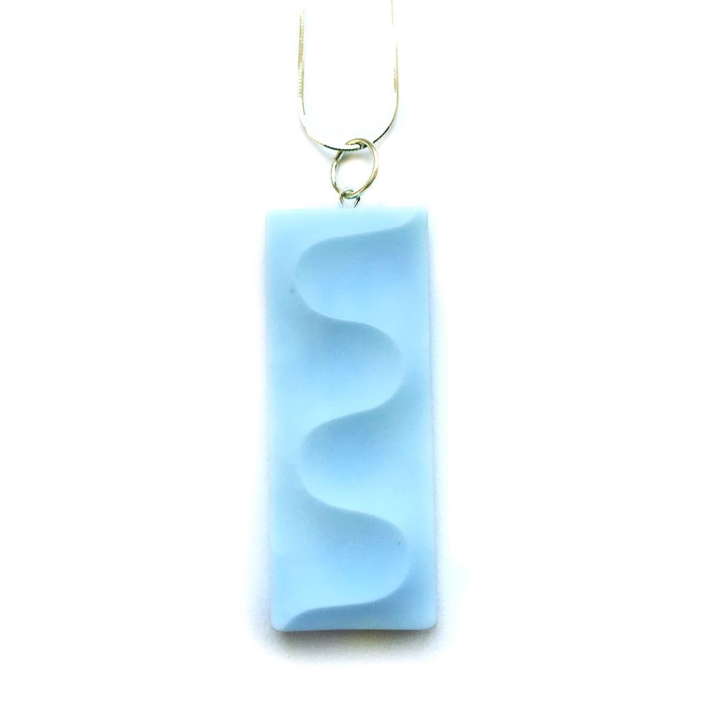 Blue Meander Pendant Necklace