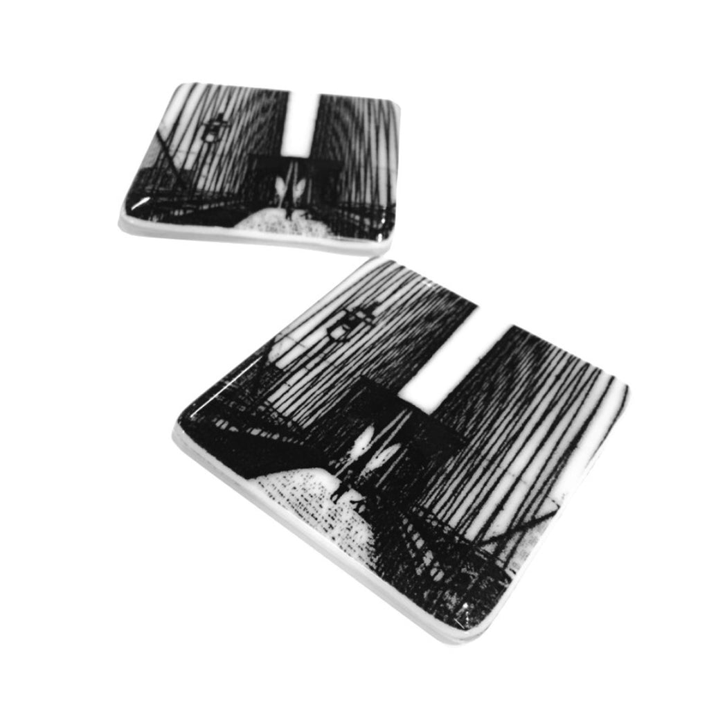 Brooklyn Bridge Coasters, set of 2