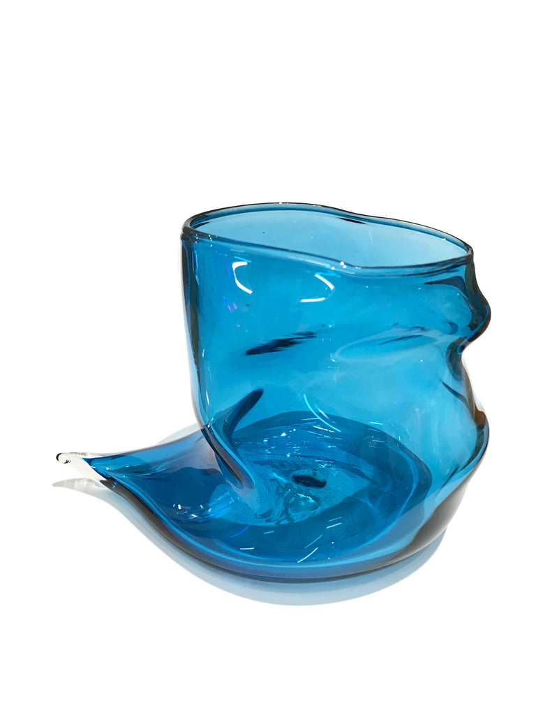 Deflated Cup in Transparent Blue