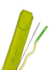 "Green & Yellow ""Zig Zag"" Straw"