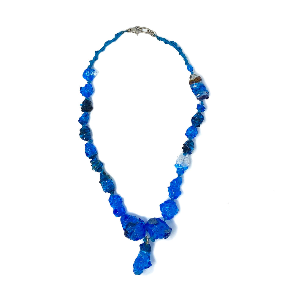 Heirloom Blue Glass Necklace