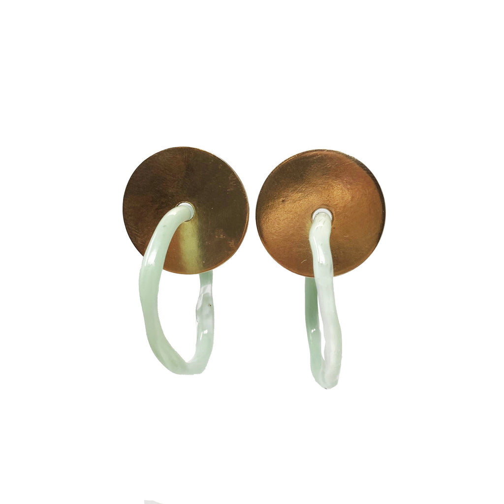 Washer Earrings in Brass
