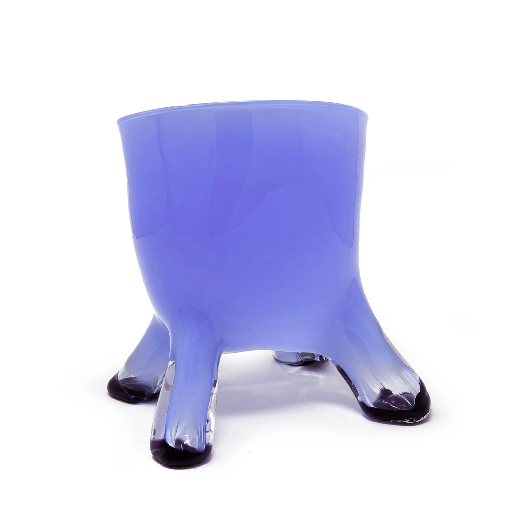 Legged Vessel in Blue w/ Toe Dipped Black
