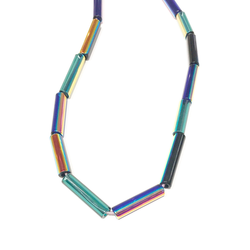 Rainbow Aura Multi Tube Necklace