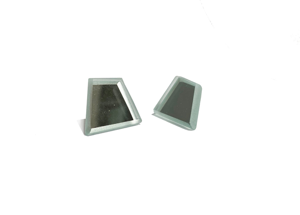 Trapezoid Mirror Earrings