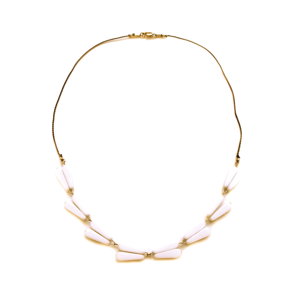 White Laurel Necklace