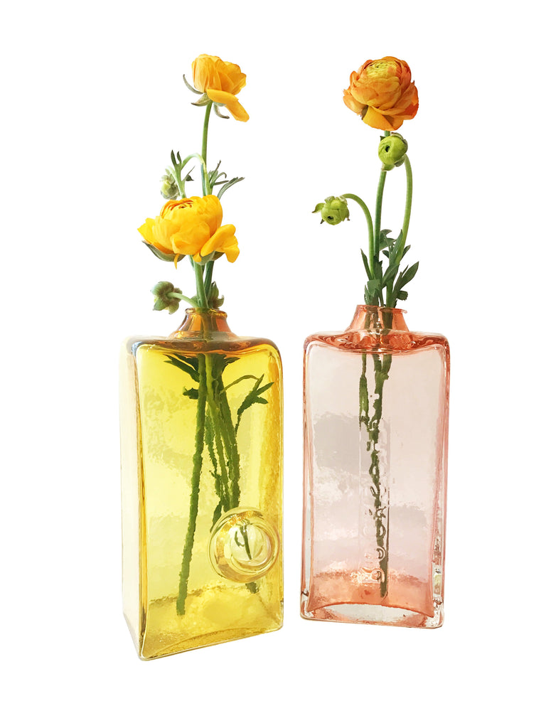 Yellow Brick Vase with Bubble