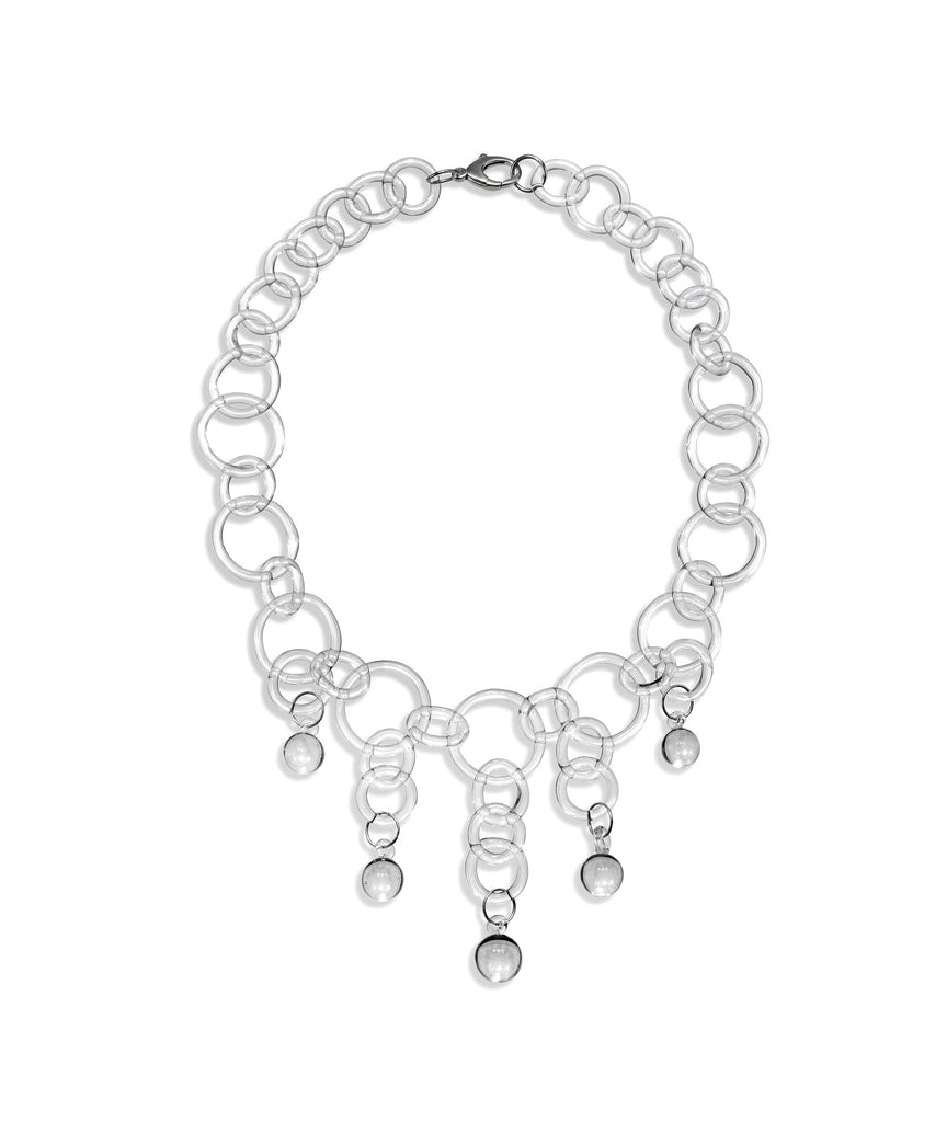 Statement Chain Ball Drop Necklace
