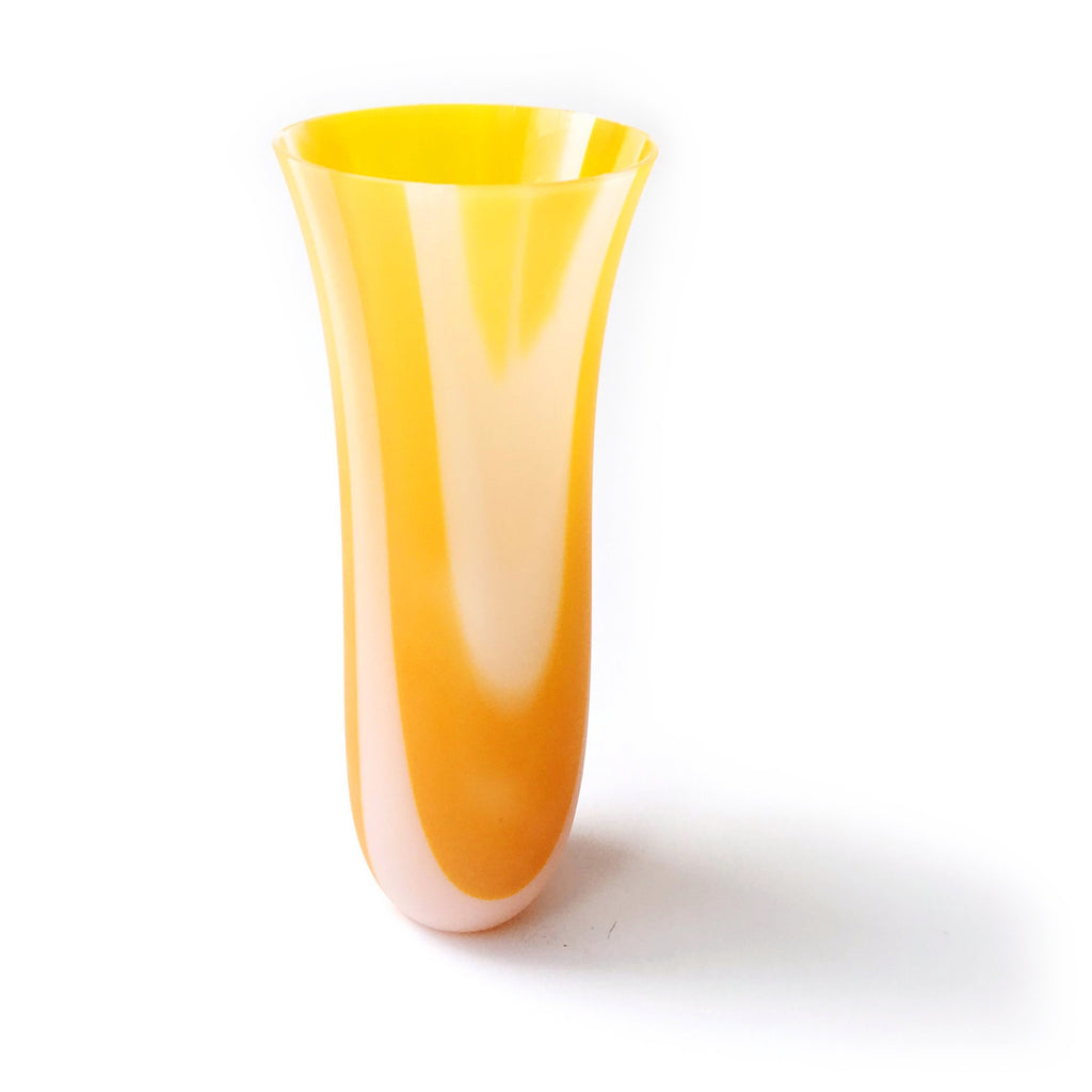 Apricot and White Bud Vase