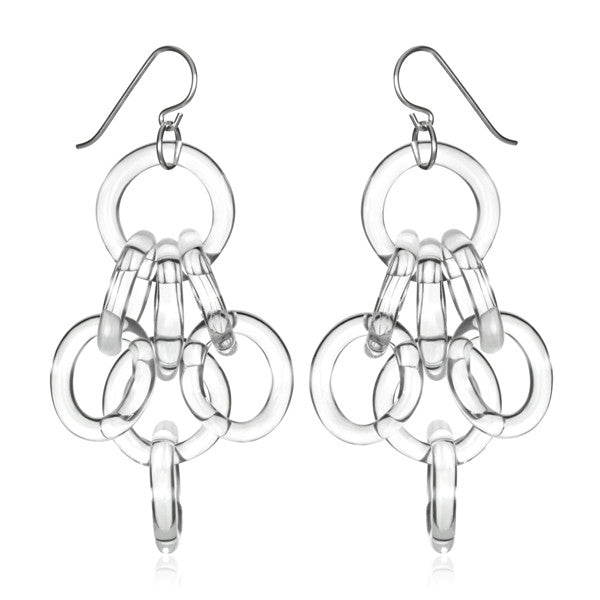 Cluster Chain Earrings